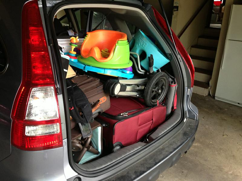 Spur of the moment - packing the car